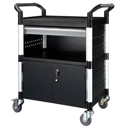 Metalen Afsluitbare Kast.Trolley Met 1 Lade En Afsluitbare Kast Webshop Irc